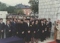 Princeza Jelisaveta na sahrani kralja Nikole